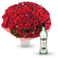 101 красная роза + Martini Bianco