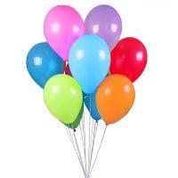 Заказать целую охапку разноцветных гелиевых шаров с доставкой
