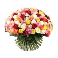 Букет 175 разноцветных роз Минск