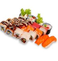 Заказать вкусные суши, которые состоят из трех наборов. Доставка в любой город