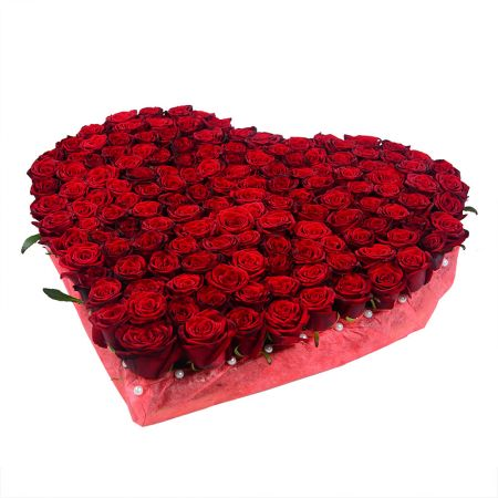 Bouquet Rose heart (145 roses)