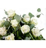Букет White roses by the piece