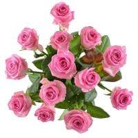Букет Поштучно розовые розы