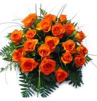 Букет Поштучно оранжевые розы