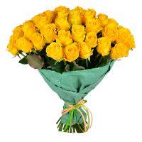 Купить большой букет желтых роз - солнечный подарок