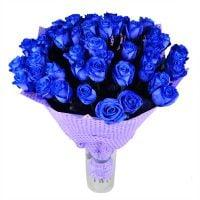 Букет из синих роз, оригинальный букет из синих роз с доставкой