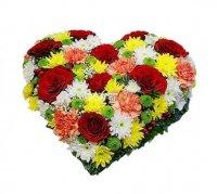 Букет Разноцветное сердце