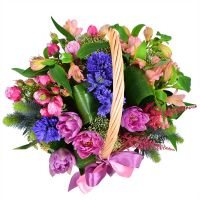Букет Необычная корзина цветов