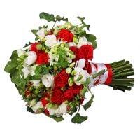Букет Красно-белая любовь
