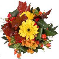 Букет Яркий микс из 15 цветков