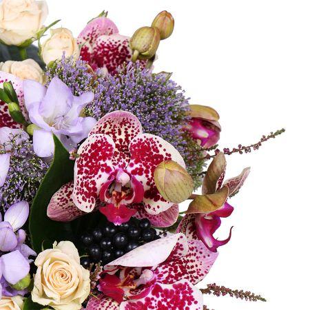 Букет Цветочный ажур в коробке