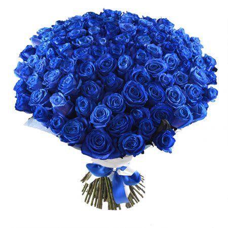 Букет Поштучно синие розы