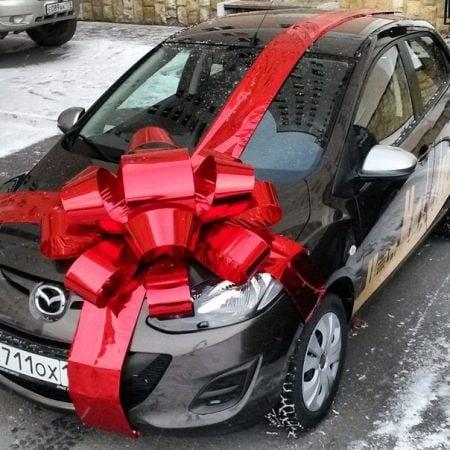 Как сделать подарочный бант на машину своими руками 12