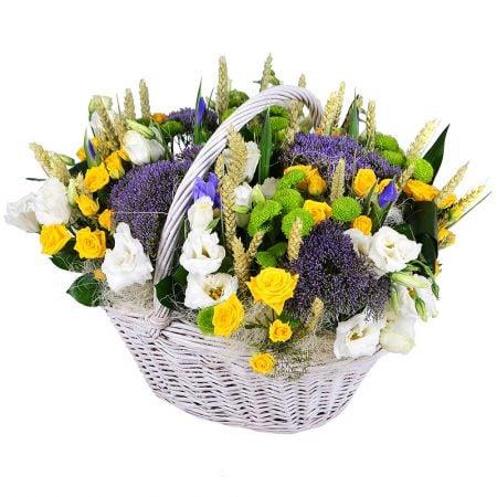Букет Летняя корзинка цветов