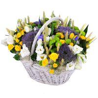 Заказать букет «Летняя корзинка цветов» онлайн