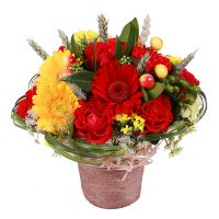Красивый букет цветов «Яркая поляна» купить с доставкой в любой город