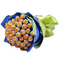 Сладкий букет из конфет чупа-чупс с доставкой
