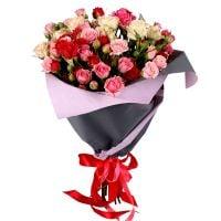 Заказать красивый букет кустовых роз в интернет-магазине с доставкой