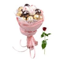 Букет Chocolate bouquet + free rose