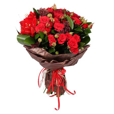 Букет Bouquet Mix in Red Colors