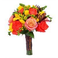 Букет невесты «Оранж» - оранжевый букет с доставкой