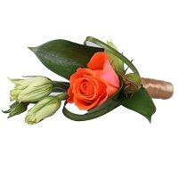 Купить бутоньерку «Генриетта» из роз и эустом в интернет магазине