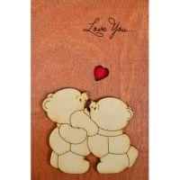 Деревянная открытка любимым с доставкой
