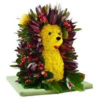 Купить игрушку из цветов «Ежик» с доставкой