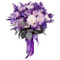 Купить оригинальный букет фиолетовых цветов с доставкой в любой город