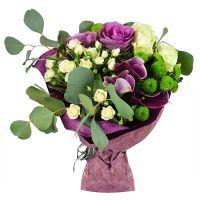 Купить букет из роз и калл «Французский сад» с доставкой