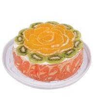 Заказать бисквитный торт с фруктами по Киеву.