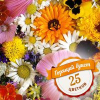 «Горящий букет из 25 цветков» купить онлайн по акции