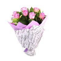 Bouquet Of 9 pink roses