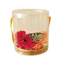 Заказать живую бабочку в прозрачной коробке с цветами. Доставка в любой город