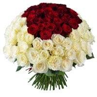Букет «Королевский», купить букет из 101 розы