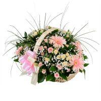 «Корзина на свадьбу», корзина с цветами, подарок на свадьбу