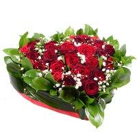 Букет Червоне серце Київ