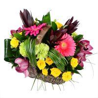 Букет Літній кошик квітів Київ