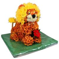 Купить сказочную композицию из цветов «Львенок» с доставкой