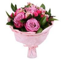 Заказать красивый букет в розовых тонах с доставкой в любой город Украины и мира