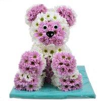 Прелестная игрушка из цветов «Миша» для детей и взрослых
