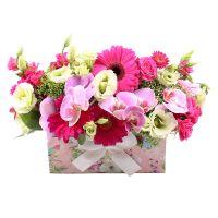 Букет Розовый сундук