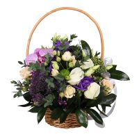Купить красивую корзину с самыми разными цветами. Доставка!