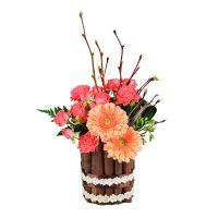 Красивый букет из роз и гербер «Летний закат» купить с доставкой