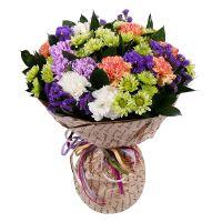 Букет-микс из разноцветных цветов с доставкой