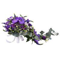 Заказать оригинальный свадебный букет «Виолетта» в интернет-магазине. Доставка!