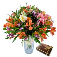 Bouquet Multicolored Alstroemeria + sweets
