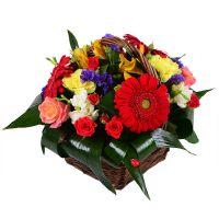 Букет Подарунковий кошик з квітами Київ