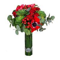 Романтичный букет с розами «Райская птичка» с доставкой