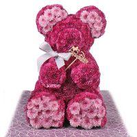 Букет Розовый мишка с бантиком Киев